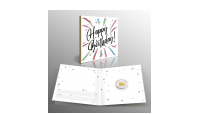 Geluksbaar in 1/100 Oz puur goud met Verjaardags cadeaukaart