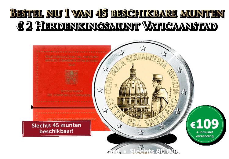 De exclusieve €2 200e verjaardag van de Gendarmerie van Vaticaanstad
