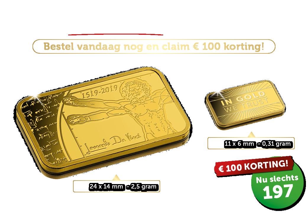 Ruim 8 keer zoveel zuiver 24-karaats goud!