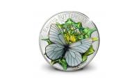 3D munt, Exotische Vlinder, puur zilver