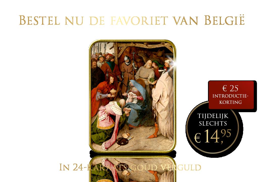 Bestel nu de favoriet van België in 24-karaats goud verguld