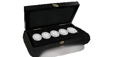 Alle zilveren 1 Franken van Albert I 1910-1914 Franstalig