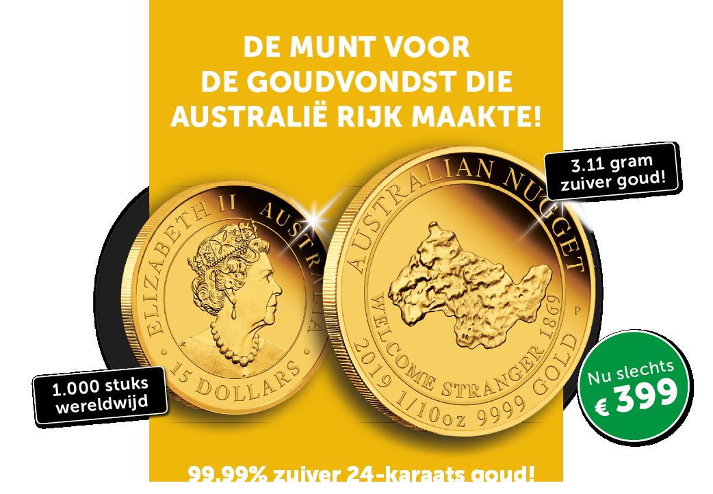 De munt ter ere van de goudvondst die Australië rijk maakte!