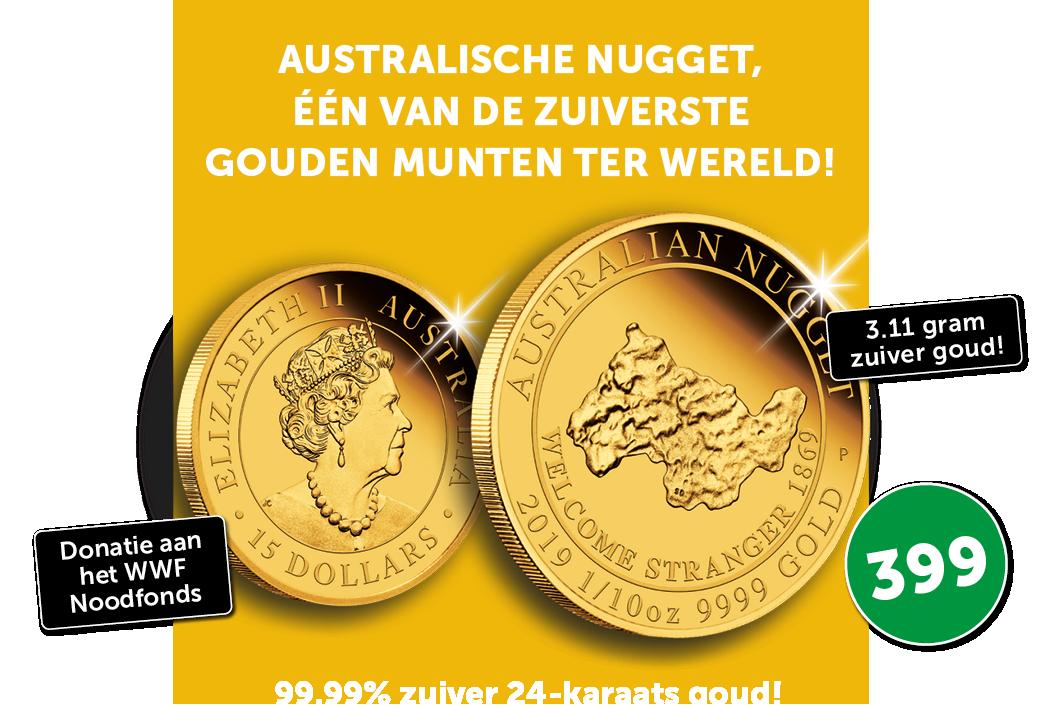 Australische Nugget, één van de zuiverste gouden munten ter wereld!