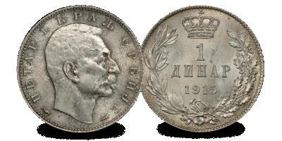 Uw set met 7 zilveren munten van de grootste landen betrokken bij de Eerste Wereldoorlog in massief zilver