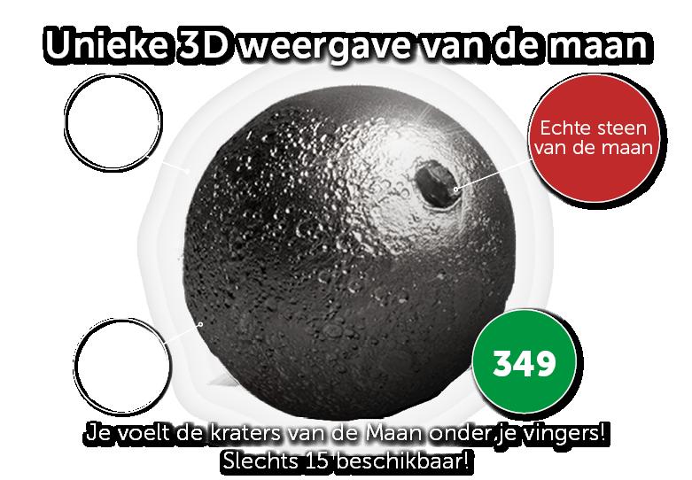 Unieke 3D weergave van de maan