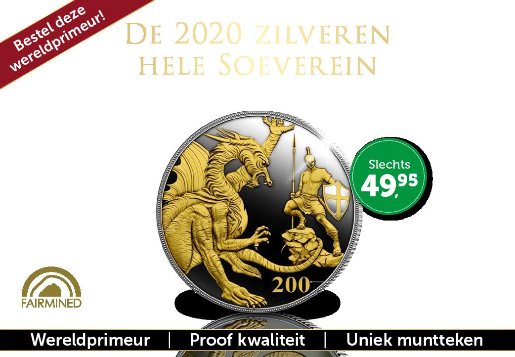 De 2020 zilveren hele Soeverein!