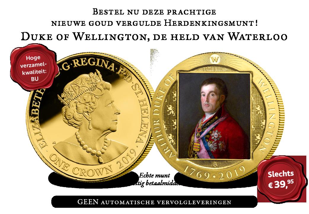 Prachtige nieuwe goud vergulde munt | € 39,95!